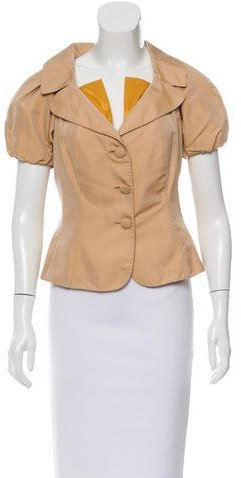 MoschinoMoschino Silk Short Sleeve Blazer