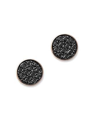 Bloomingdale's Black Diamond Circle Stud Earrings in 14K Rose Gold, 0.25 ct. t.w. - 100% Exclusive