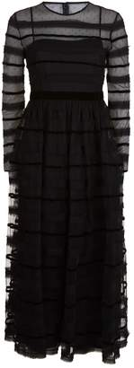 RED Valentino Stripe Tulle Midi Dress