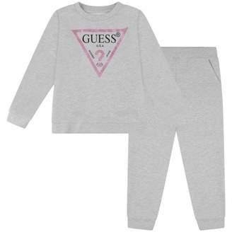 GUESS GuessGirls Grey Glitter Logo Tracksuit