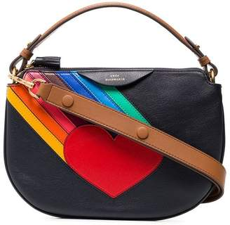 Anya Hindmarch multicoloured Soft Stack heart leather cross body bag