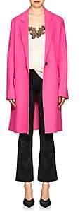 Helmut Lang Women's Brushed Wool-Cashmere Melton Topcoat - Pink
