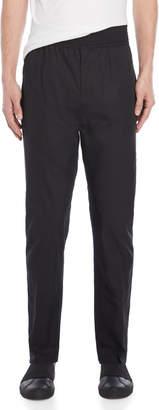 Givenchy Black Chevron Stitched Cotton Pants