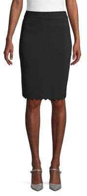 Catherine Malandrino Scalloped Pencil Skirt