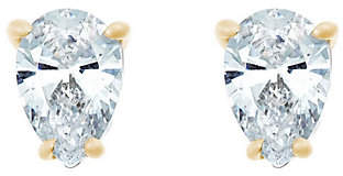 Affinity Diamond Jewelry Pear Diamond Stud Earrings, 14K Yellow, 1/2cttw, by Affinity