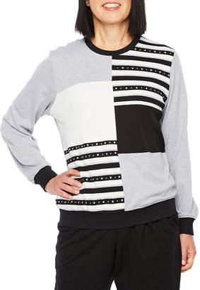 Alfred Dunner At Ease 3/4 Sleeve Sweatshirt