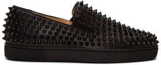 Christian Louboutin Black Roller-Boat Sneakers