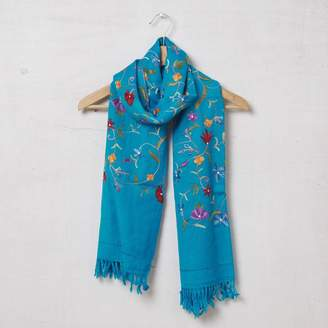 Vida Vida Pure Pashmina Wool Embroidered Scarf