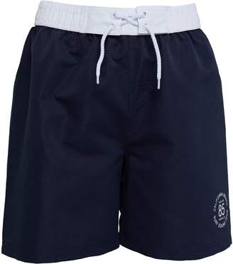 Board Angels Girls Plain Board Shorts Navy