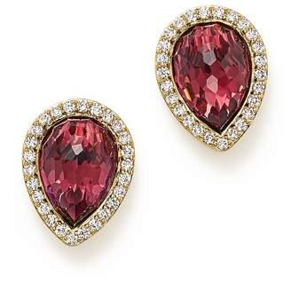 Bloomingdale's Rhodolite Garnet and Diamond Teardrop Earrings in 14K Yellow Gold - 100% Exclusive