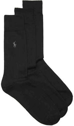 Polo Ralph Lauren Wide Rib Dress Socks - 3 Pack - Men's
