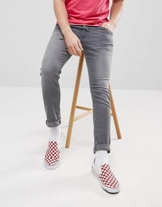 Wrangler Bryson Skinny Jeans Silver Built