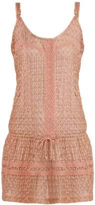 Melissa Odabash Khloe drawstring-waist crochet-knit dress