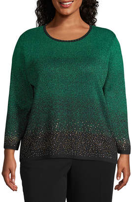 Alfred Dunner Sparkly Ombre Pullover Sweater - Plus