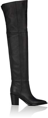 Gianvito Rossi Women's Leather Over-The-Knee Boots - Black