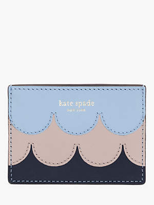 Kate Spade Star Scallop Coated Leather Card Holder