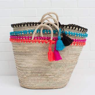 Bohemia Mexicana Tassel Beach Basket | Mini Size Also Available