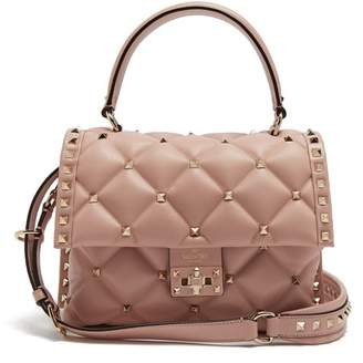 842f950da07d Valentino Candystud Quilted Leather Shoulder Bag - Womens - Light Pink