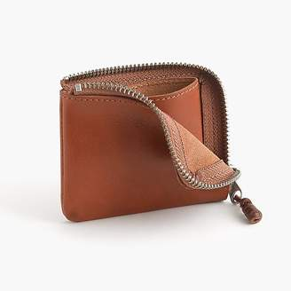 J.Crew Zipper wallet in Italian leather