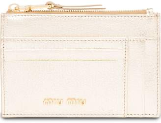 Miu Miu top zip card holder