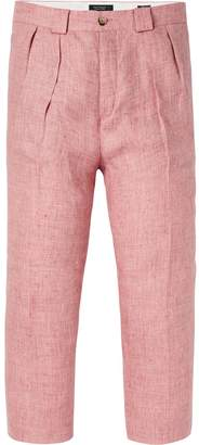 Scotch & Soda Linen Pleated Trousers Loose tapered fit