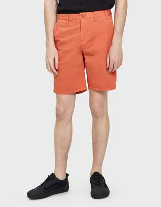 Norse Projects Aros Light Twill Shorts in Burned Red