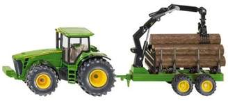 John Deere Vehicles - Farmer 1:50 Tractor With Forestry Trailer - 1954 - Siku