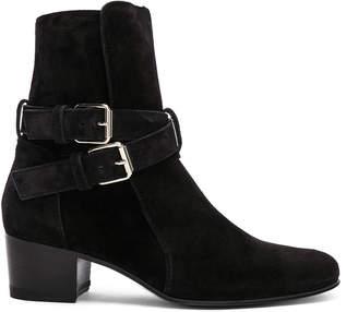 Amiri Buckle Suede Boots