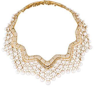 Chanel Collerette Pearl & Diamond Collar Necklace $352,500 thestylecure.com