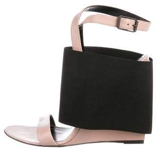Balenciaga Leather Ankle-Strap Wedges
