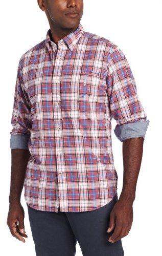 Nautica Men's Big-Tall Plaid Shirt