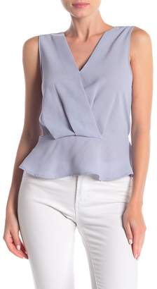 Elodie K Surplice Neck Peplum Tank Top