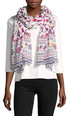 Collection 18 Woven Floral Printed Scarf