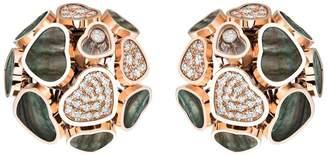 Chopard Happy Hearts Pavé Clip Earrings
