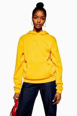Topshop Tall Yellow Heart Hoodie