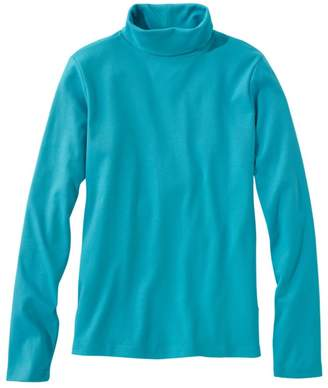 L.L. Bean L.L.Bean Women's Pima Cotton Turtleneck, Long-Sleeve