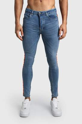 Skinny Fit Jeans With Neon Side Tape
