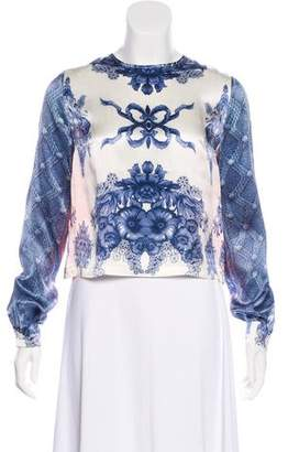 Preen by Thornton Bregazzi Floral Print Long Sleeve Top