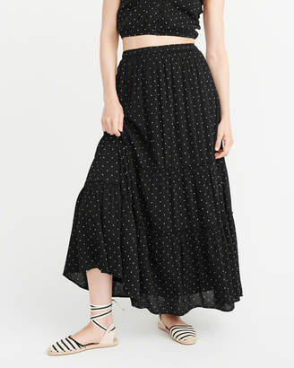 Abercrombie & Fitch Tiered Maxi Skirt