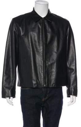 Prada Leather Wool-Lined Jacket