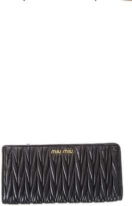 Miu Miu Matelasse Nappa Leather Wallet