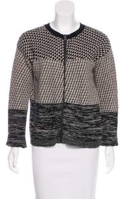 Max Mara Virgin Wool Patterned Cardigan