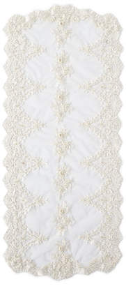 Nomi K Hand-Embroidered Pearl Runner with Fine Lace
