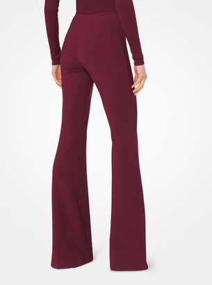 Michael Kors Stretch Wool-Crepe Flared Trousers