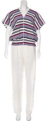 Lemlem Striped Straight-Leg Jumpsuit
