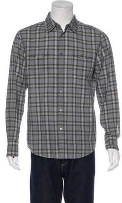 John Varvatos Plaid Woven Shirt