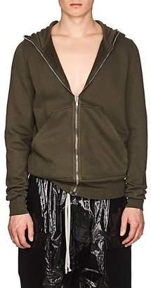 Rick Owens Men's Cotton Fleece Gimp Hoodie - Olive