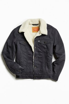Levi's Levi's Flannel Sherpa Trucker Jacket $129 thestylecure.com
