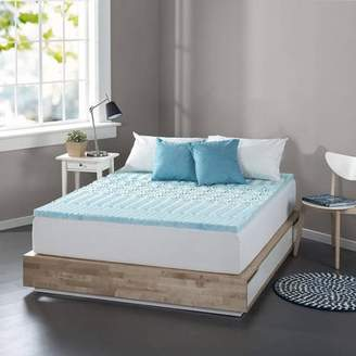 """Spa Sensations Zoned Fusion Gel Memory Foam 1"""" Mattress Topper Available in multiple sizes"""