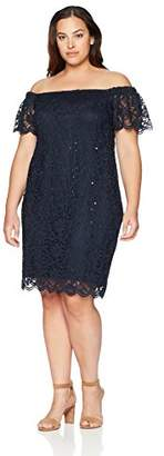 Tiana B Women's Plus Size lace Short Sleeve Dress
